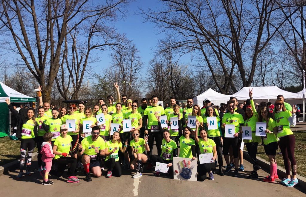 Înainte de alergarea în pădure, alături de echipa Legal Runners - Băneasa Forest Run