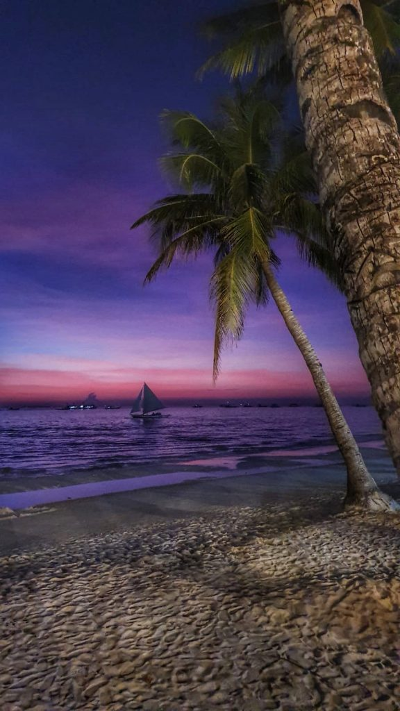 Amazing sunset in Boracay